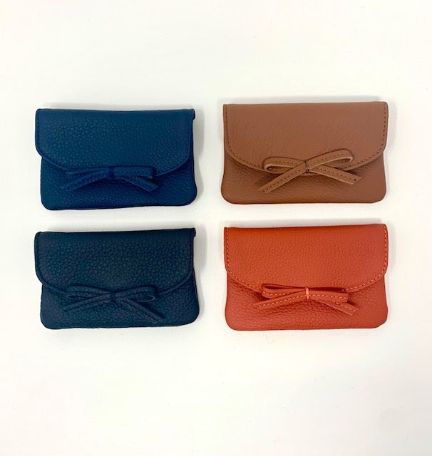 Image of Pebbled Leather Card Pouches