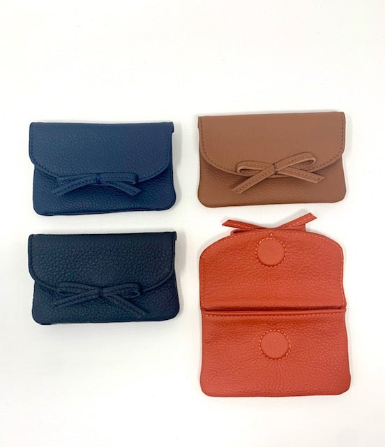 Image of Pebbled Leather Card Wallets