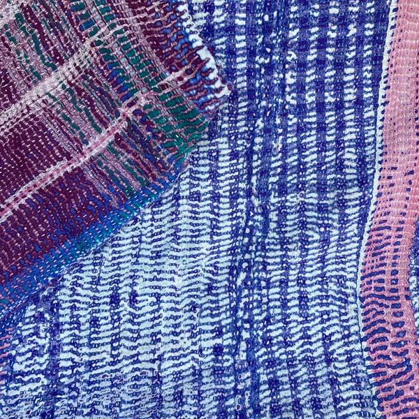 Image of Vintage Kantha Quilt - Violet Tranquility