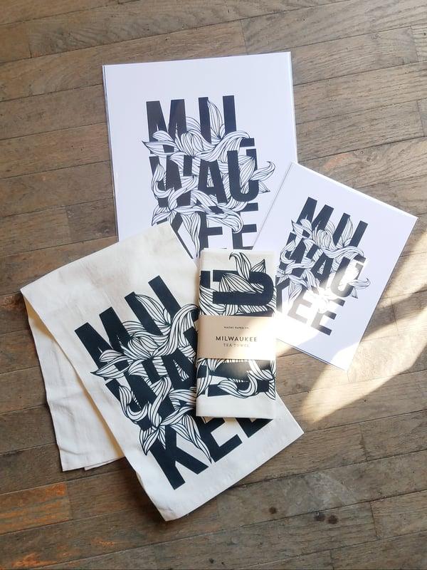 Image of Milwaukee Art Print and Tea Towel by Naomi Paper Co