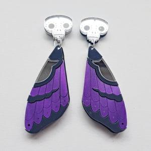 Image of Death's-Head Moth Wing Earrings