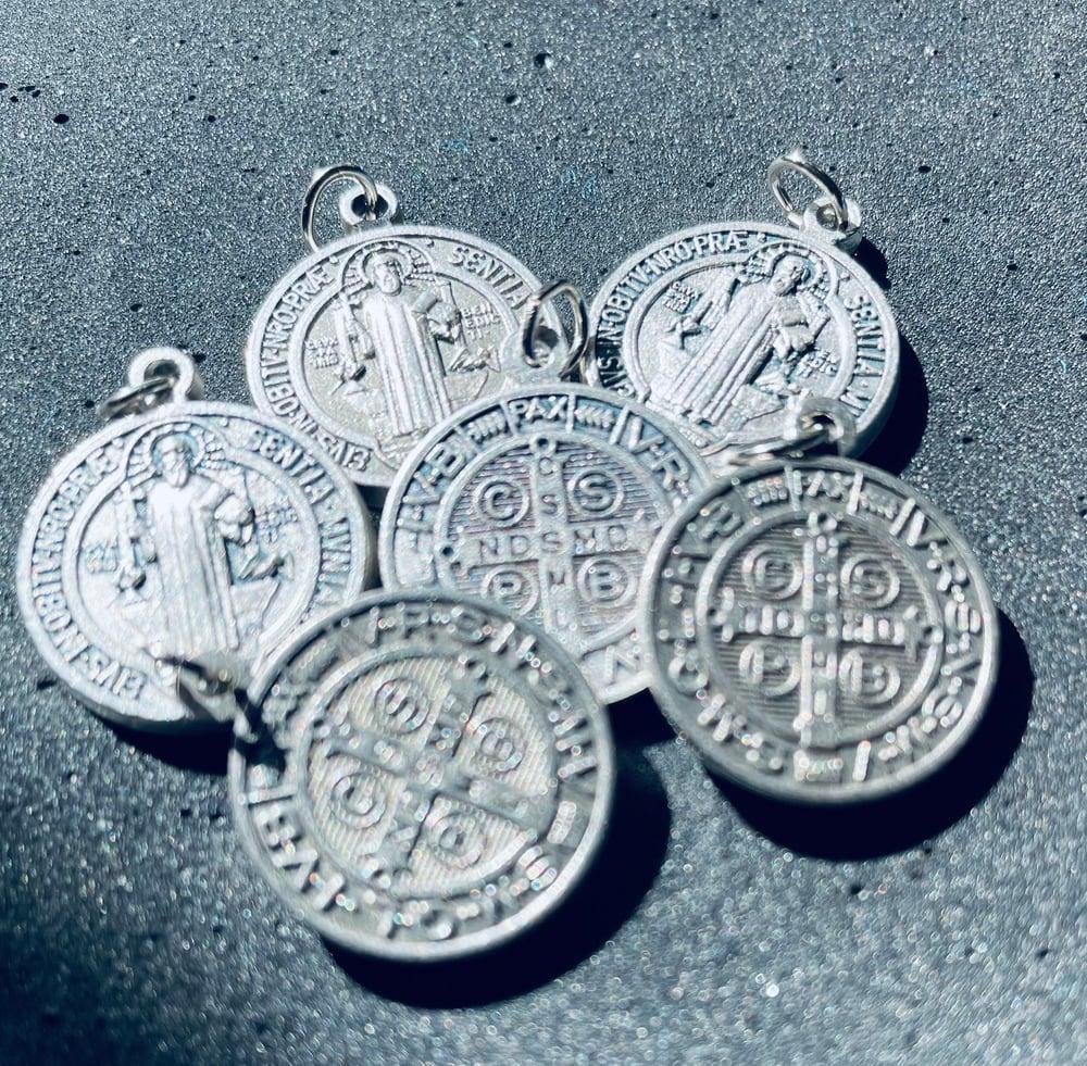 Image of Saint Benedict pendant with chain