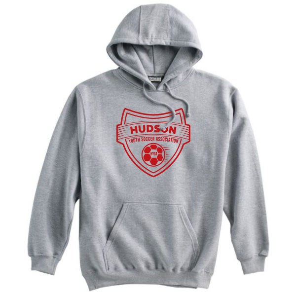Image of HUDSON YOUTH SOCCER GREY HOODIE