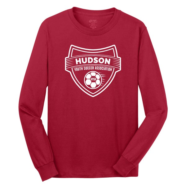 Image of HUDSON YOUTH SOCCER RED LONG SLEEVE