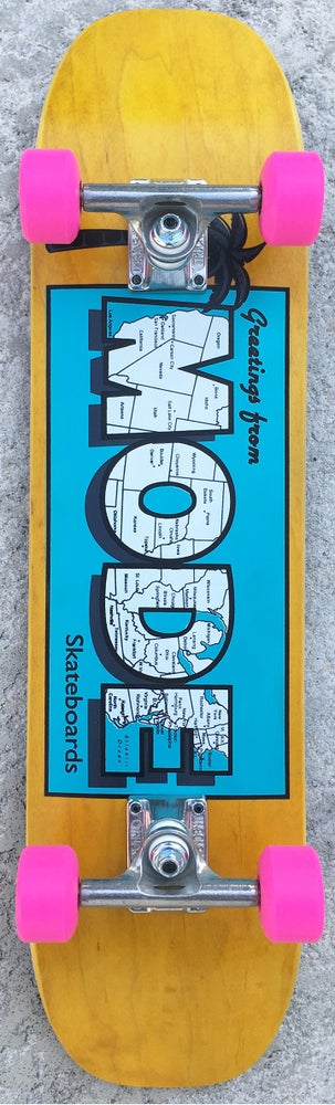 Image of Postcard Freestyle Complete (7.4 x 29.4 double-kick deck) -- board base color varies