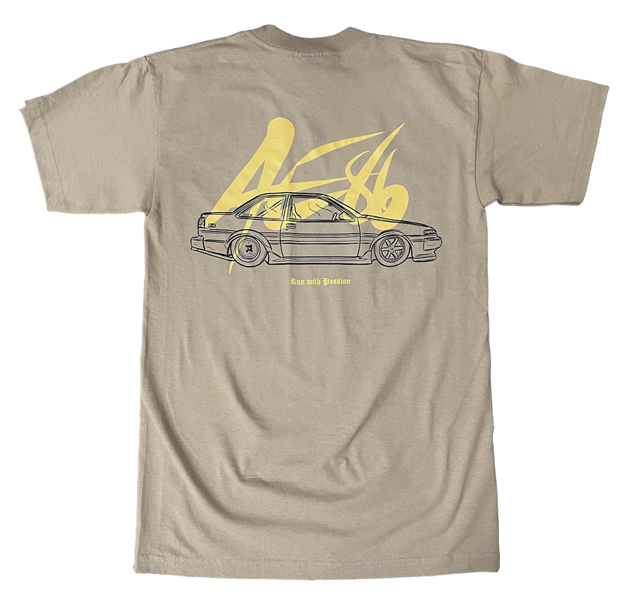 Image of 86 Coupe Run with Passion Tee