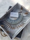 Spike Statement Necklace (silver)