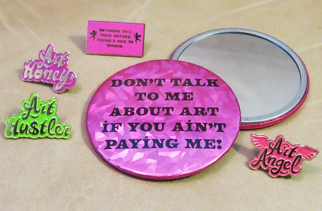 Image of PAY ME QT HOLOGRAPHIC MIRROR