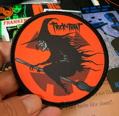 Image of Trick or Treat witch patch - few left