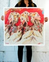 Extremely Limited Edition Pearlescent 'LOLLIPOP x3' Giclee Print