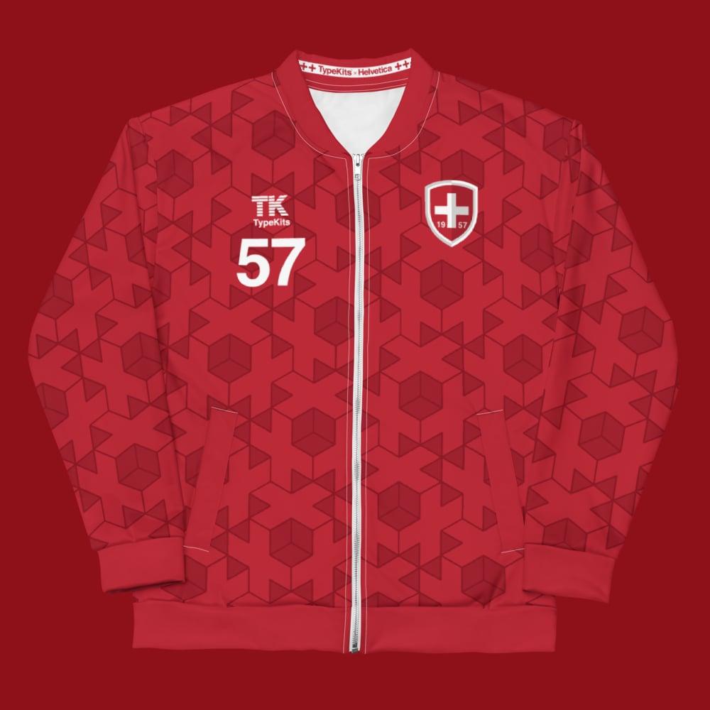 Image of Team Helvetica 1957 -  Red Unisex Jacket