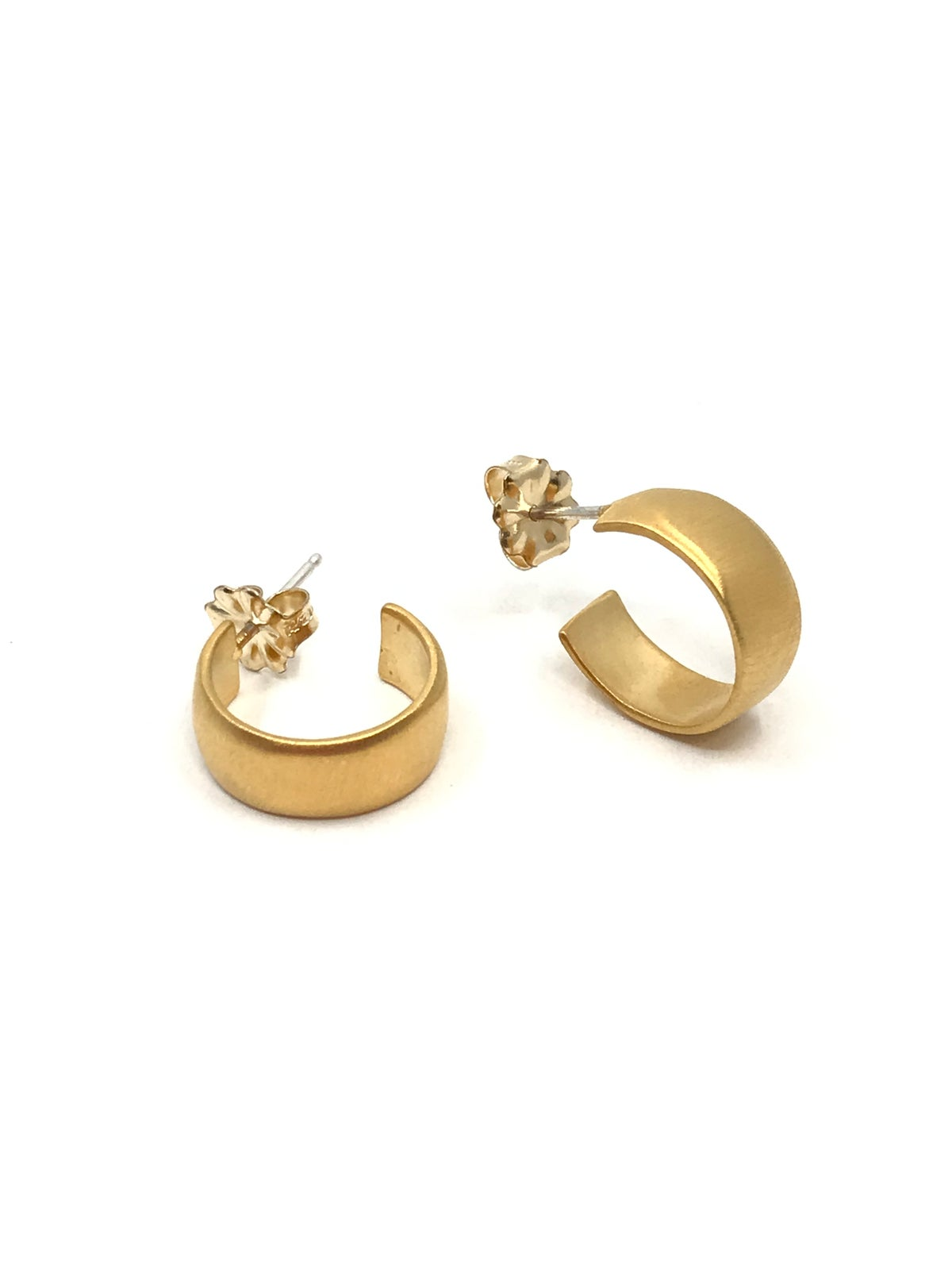 Gold Vermeil Hoops by Philippa Roberts
