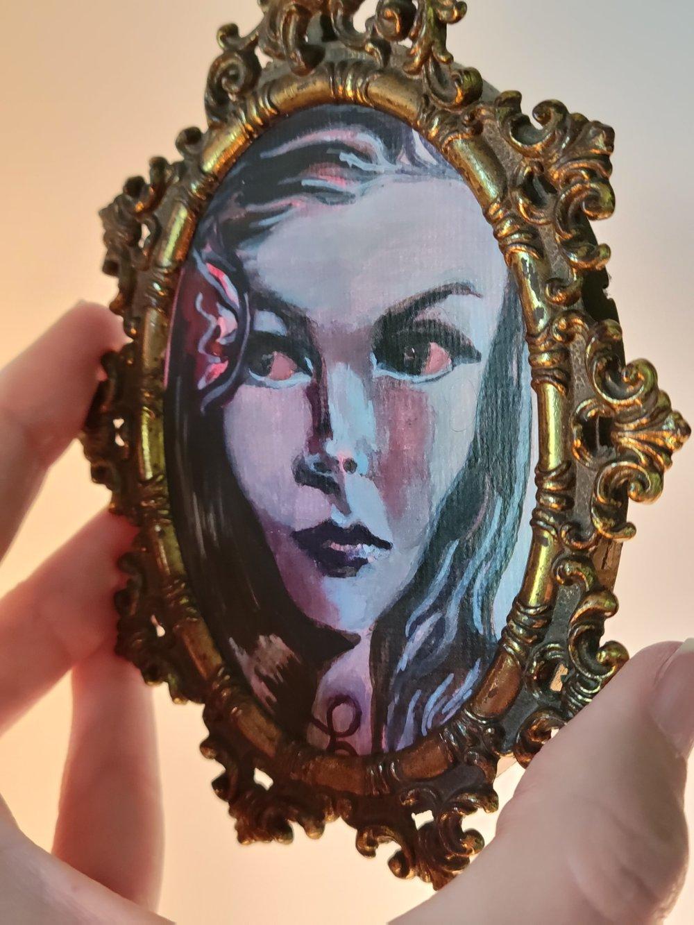 Image of Veronica in crimson