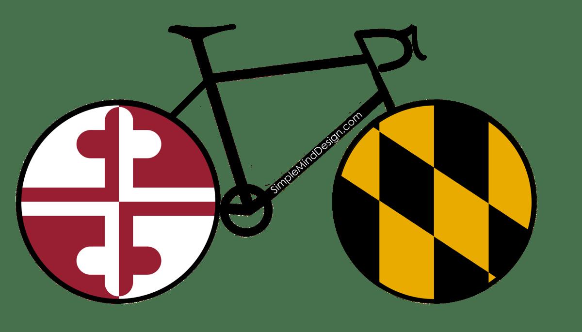 Image of Maryland Road Bike Magnet