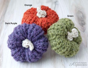 Mini Pumpkins Crocheted with Alpaca Yarn - Fall Decor for Llama Lovers - Perfect for Tiered Tray