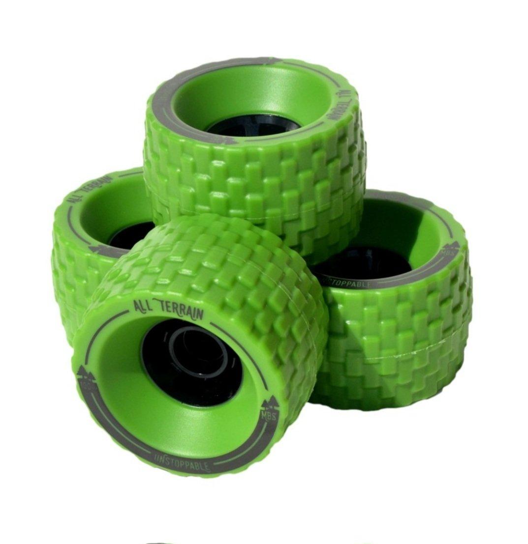Image of MBS All-Terrain Skateboard Wheels - Green (4)