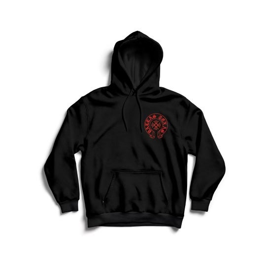 Image of DALLAS HEARTS HOODIE (BLK/RED)