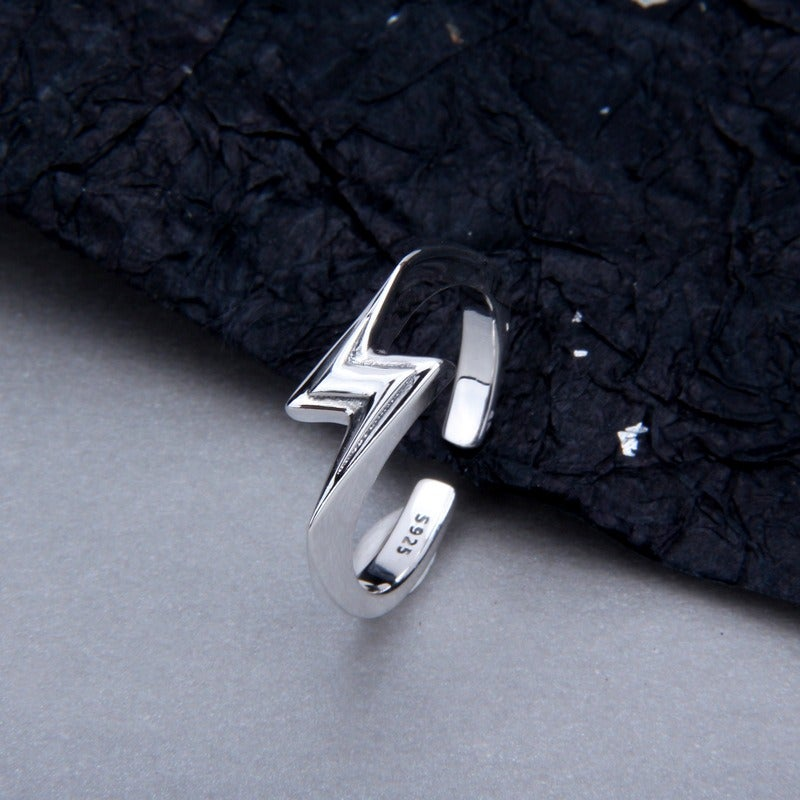 'Flash' Silver Open Ring