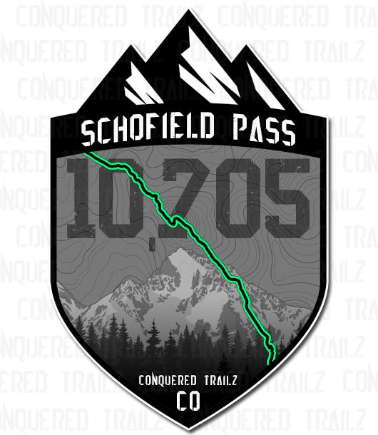 """Image of """"Schofield Pass"""" Trail Badge"""