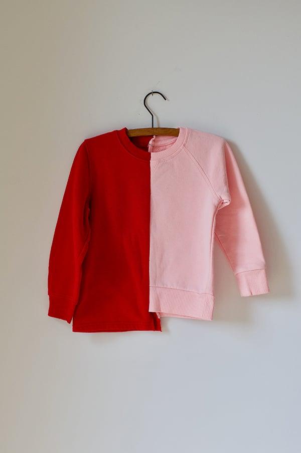Image of TLC Half/Half Sweat - Red/Pink