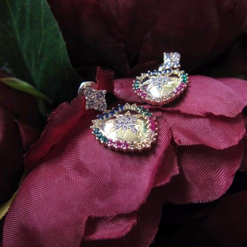 Image of Rainbow Heart earrings