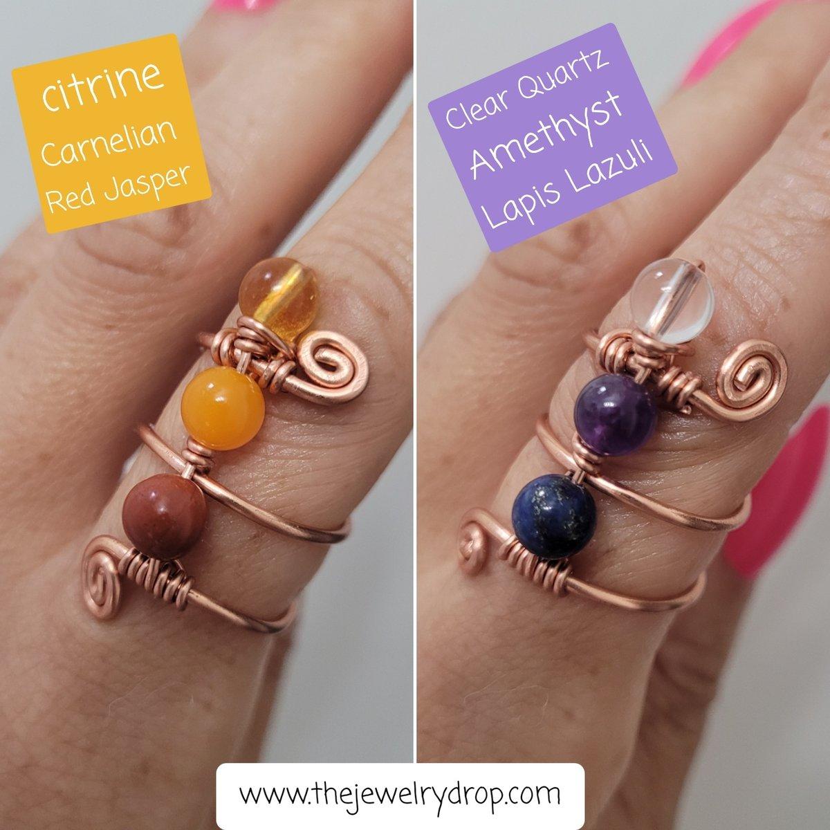 Image of Multi stonebeaded ring