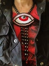 """""""Eye See You"""" Evil Eye Necklace in Red"""