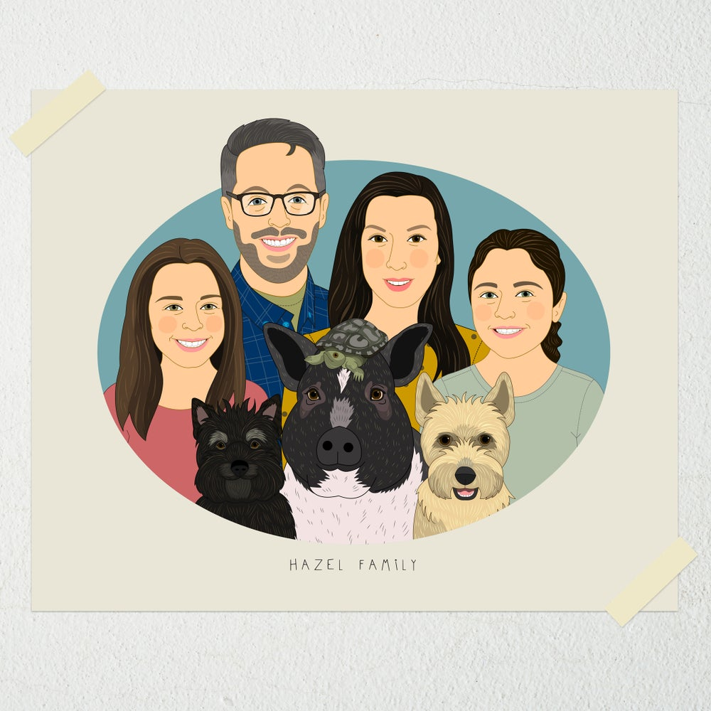 Image of Large family. 5 or more people or pets.