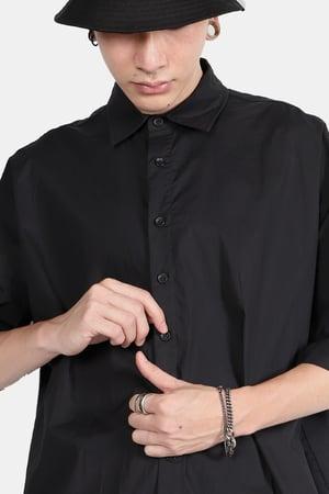 Image of IMMENSE - OVERSIZED落肩襯衫 (黑)