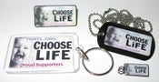 Image of Choose Life License Plate Items