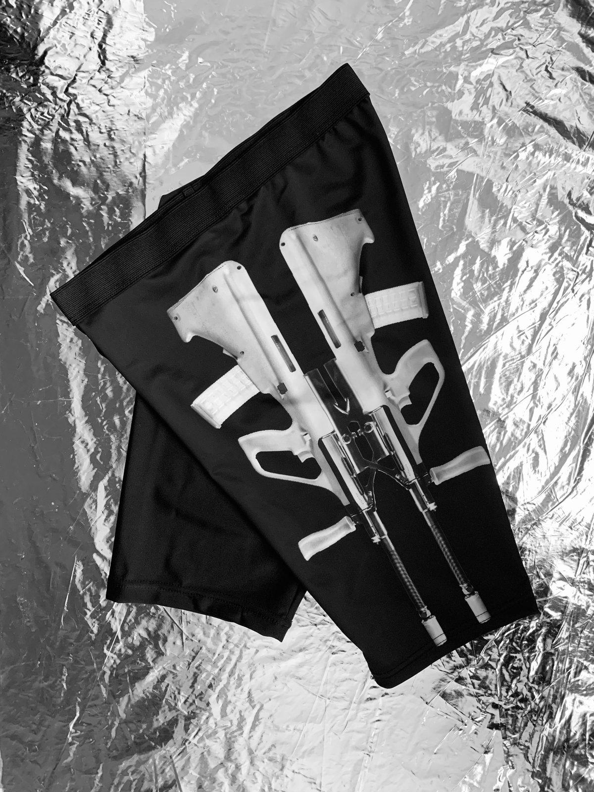 Image of TERROR VISION - Steyr Aug biker shorts