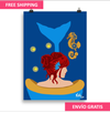 """""""Mermaid in the Tub"""" - Art Print - by: KikiLoe"""