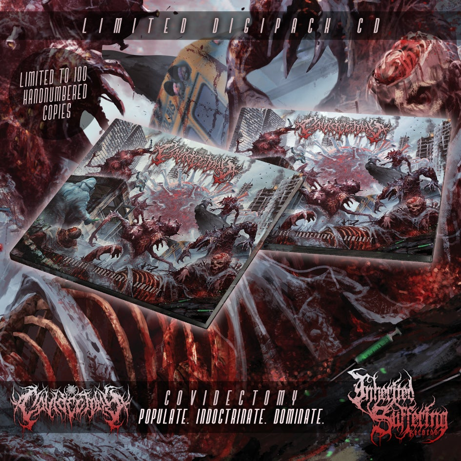 Image of Covidectomy - Populate. Indoctrinate. Dominate. - Limited Digipack CD