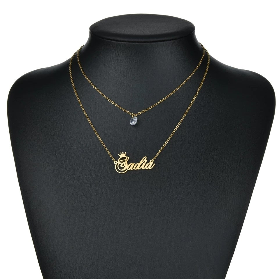 Image of PERSONALISED DOUBLE LAYER NECKLACE