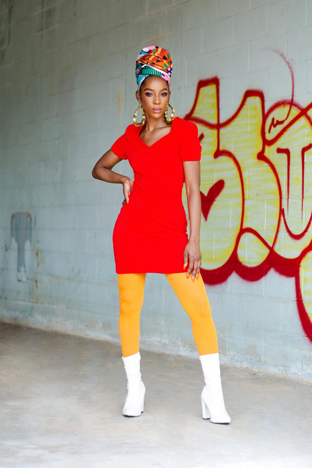 Image of Vintage Adeaze 80's Red Fitted Mini Dress