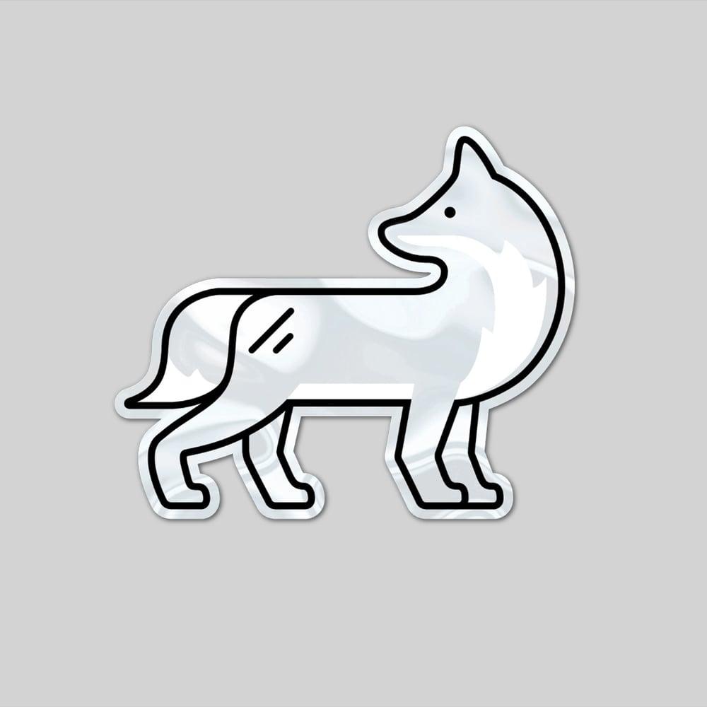 Image of Kitsune Sticker (Shiny)