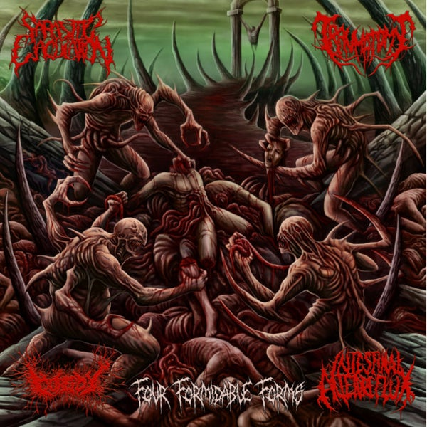 Image of Four Formidable Forms Gorepot Traumatomy Intestinal Alien Reflux Parasitic Ejaculation