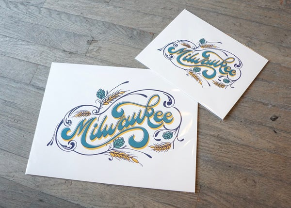 Image of Vintage Script Milwaukee Print (8x10 and 11x14)