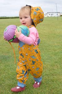 Image of Toddler Reversible Dungarees - Dragons