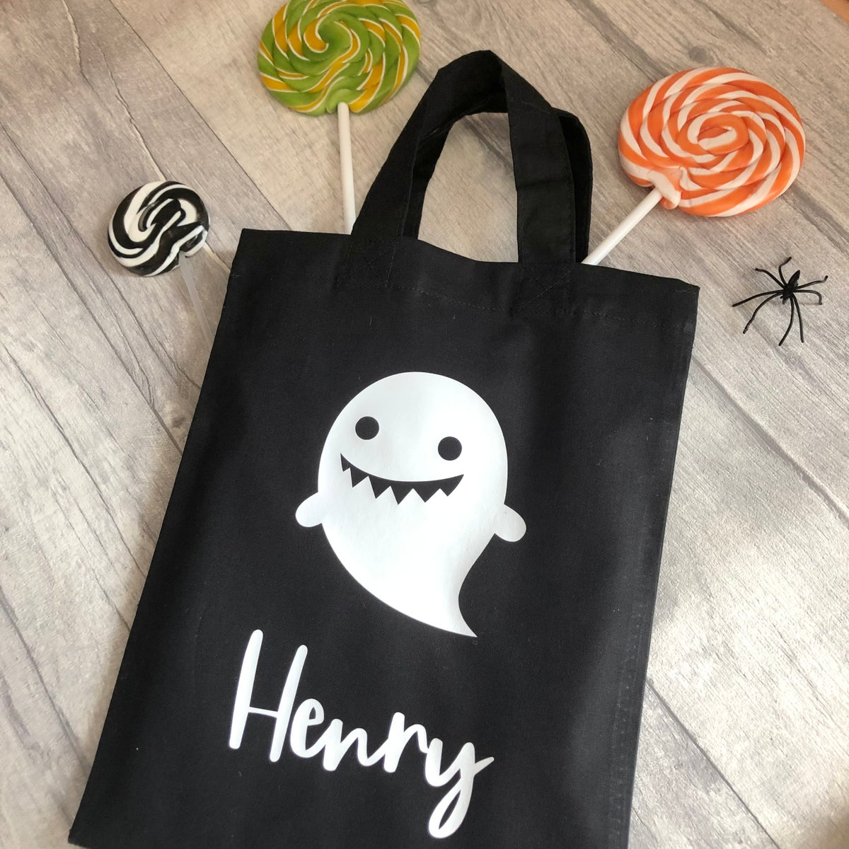 Image of Halloween Ghost Personalised Trick or Treat Goody Bag
