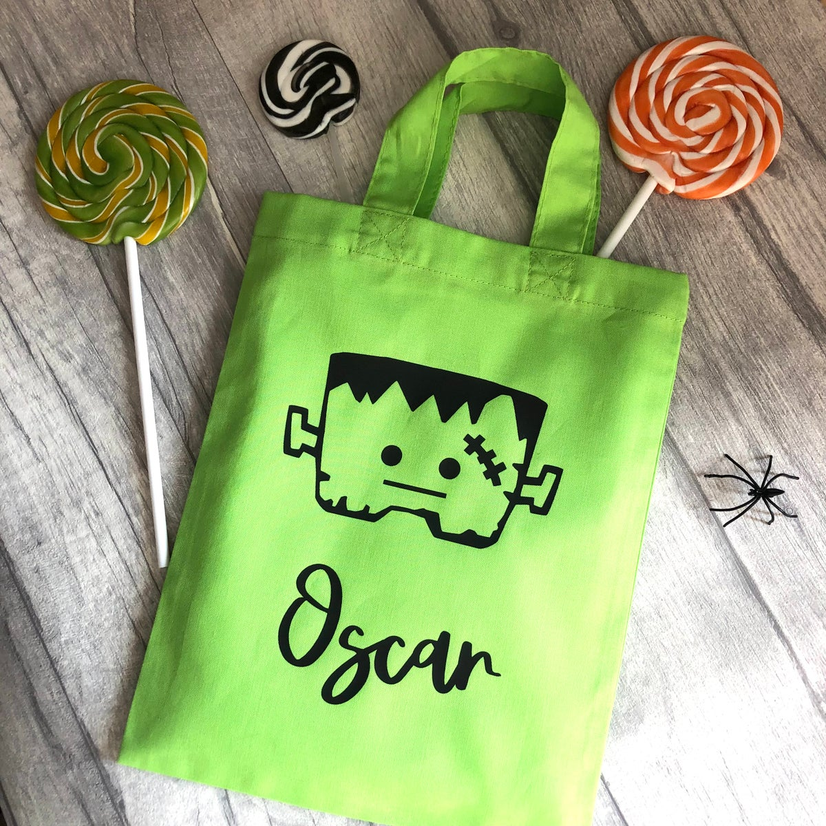 Image of Halloween Frankenstein Personalised Trick or Treat Goody Bag