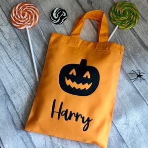 Image of Halloween Pumpkin Personalised Trick or Treat Goody Bag