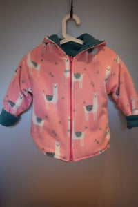 Image of Reversible Zip Jacket - Pink Llamas
