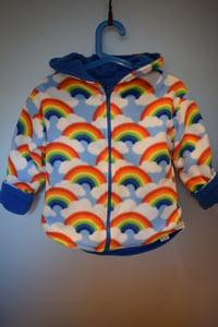 Image of Reversible Zip Jacket - rainbows