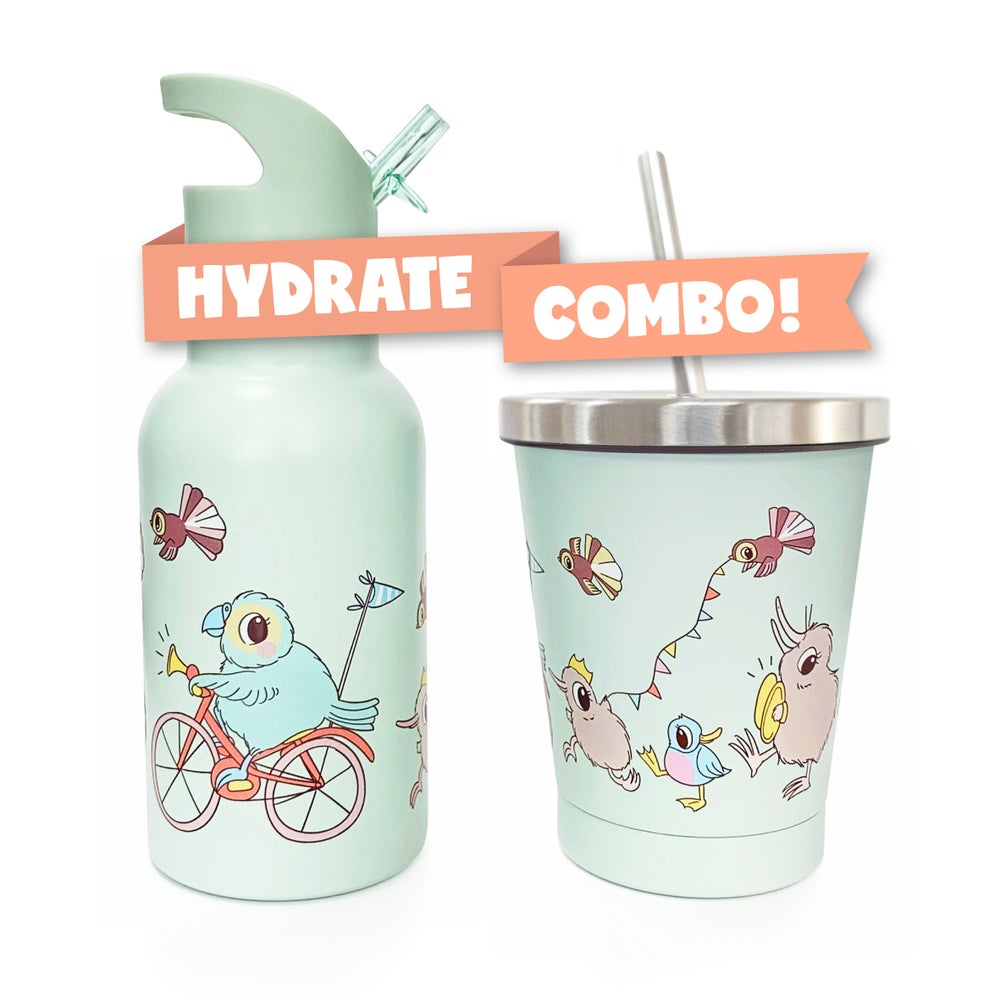 HYDRATE COMBO: Kuwi Drink Bottle + Smoothie Cup