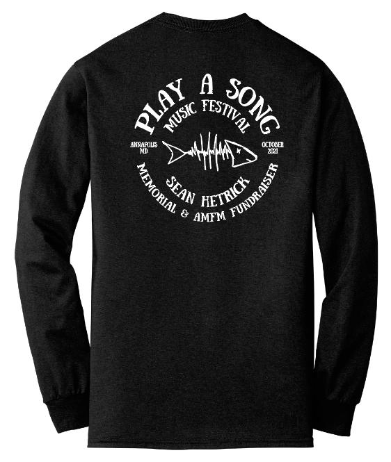 Play A Song Music Festival T-Shirt - Black Long Sleeve