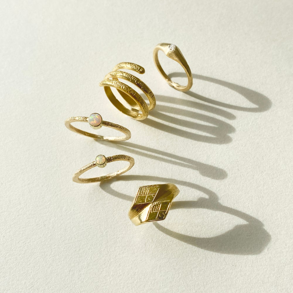 Image of SOLE RING / 24K GOLD-COATED SILVER