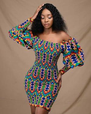 Image of OFEIBEA AFRICANPRINT DRESS