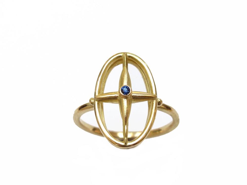 Image of Star Cross Open Diamond Ring