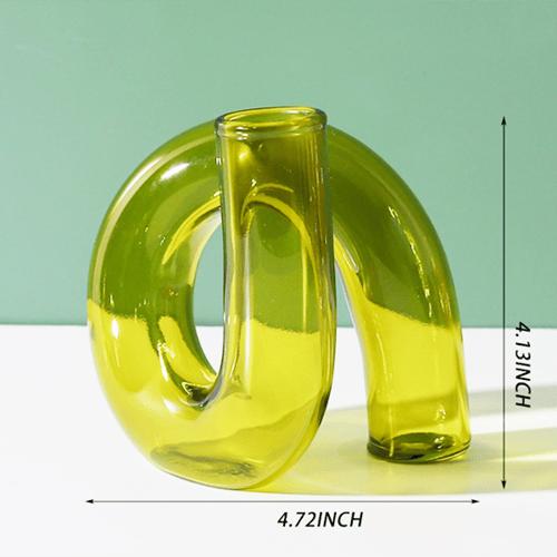 Image of Moss Green Modern Vase / Taper Holder